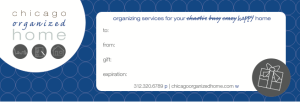 Chicago Organized Home Gift Card